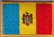 Moldova Embroidered Flag Patch, style 08.